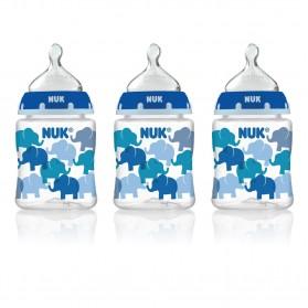 NUK Fashion Orthodontic Bottle Elephant Boy 5 oz 150ml 1/2/3