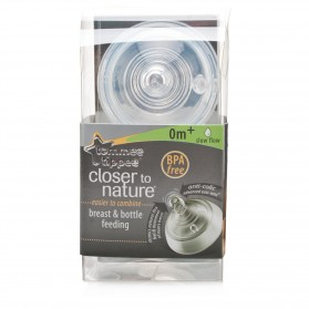 Tommee Tippee Closer To Nature Teats (Slow Flow 0m+) - Twin Pack
