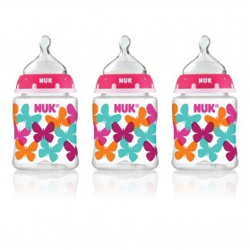 NUK Fashion Orthodontic Bottle Butterfly Girl 5 oz 150ml 1/2/3