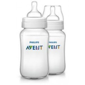 Philips Avent Bottles 2 x 11oz / 330ml Classic+ Plus (PP) BPA Free-Twin Pack