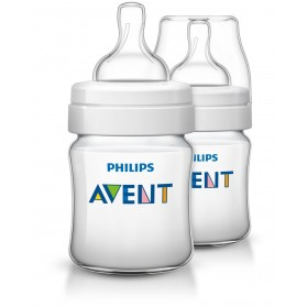 Philips Avent Bottles 2 x 4oz / 125ml Classic+ Plus (PP) BPA Free-Twin Pack