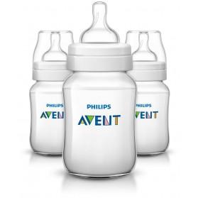 Philips Avent Bottles 3 x 9oz / 260 ml Classic+ Plus (PP) BPA Free-Triple Pack England Set