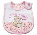 Carter's Bib -Love Bear Pink