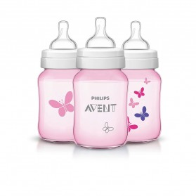 Philips AVENT Classic Plus + Special Edition 260ml 9oz x 1/2/3 Feeding Bottle Butterfly
