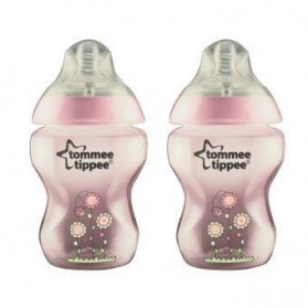 Tommee Tippee Closer To Nature 2 x 260ml Tinted Blue/Pink/Green Colour (Twin Pack)
