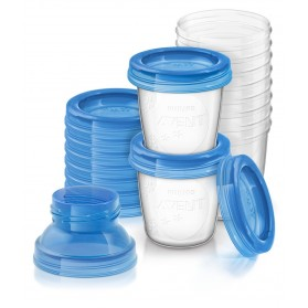 Avent VIA Breast Milk Containers Storage Cups 10 X 180ml 6oz