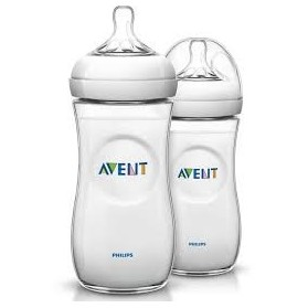 Philips AVENT 2 x 330ml 11oz Twin Pack BPA Free Natural PP Bottles
