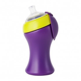 Boon SWIG Spout Top Sippy Cup Tall  10 oz Blue / Purple