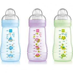 MAM Baby Bottle 270ml Single Pack Blue /Purple /Green