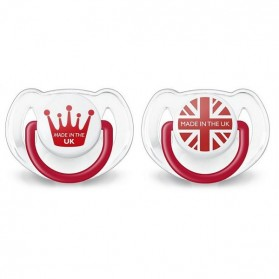 Philips AVENT BPA-Free Limited British Edition Soother  6-18 Months Twin Pack