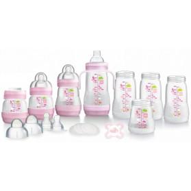 MAM Anti-Colic Self-Sterilising Bottle Starter Set 15pcs (Pink)