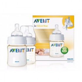 Philips Avent Bottles 2 x 4oz / 125 ml (PES) BPA Free-Twin Pack