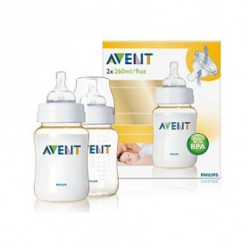 Philips Avent Bottles 2 x 9oz / 260 ml (PES) BPA Free-Twin Pack