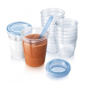 Avent VIA Baby Food Storage Set with lids and spoon