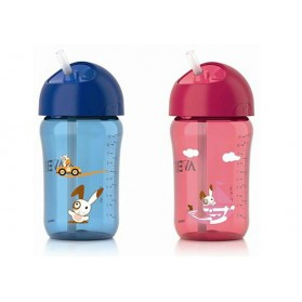 Avent Straw Cup 12oz 18m+ Pink /Blue