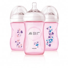 Philips AVENT Natural Range Special Edition 260ml 9oz x1/2/3 Feeding Bottle with Flower Design Printing