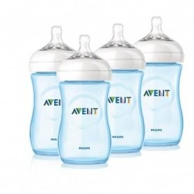 Philips Avent Bottle Natural 1/2/3  9oz / 260 ml PINK/BLUE