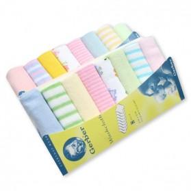 Gerber Baby Washcloth Handkerchief - 8 pieces set (Assorted Design)