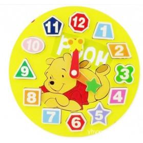 Wooden Educational Disney Characters Clock Games