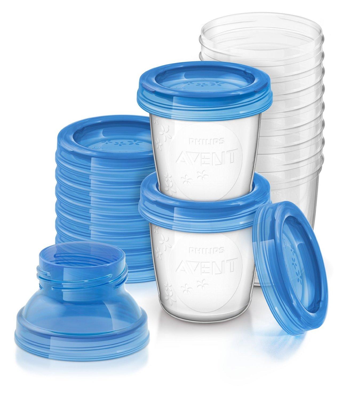 avent breast milk storage cup via