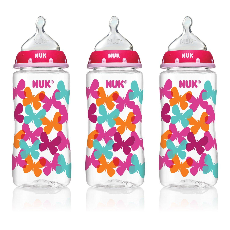 NUK Fashion Orthodontic Bottle Butterfly Girl 10oz 300ml