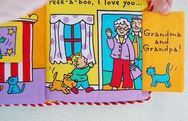 peakaboo cloth book