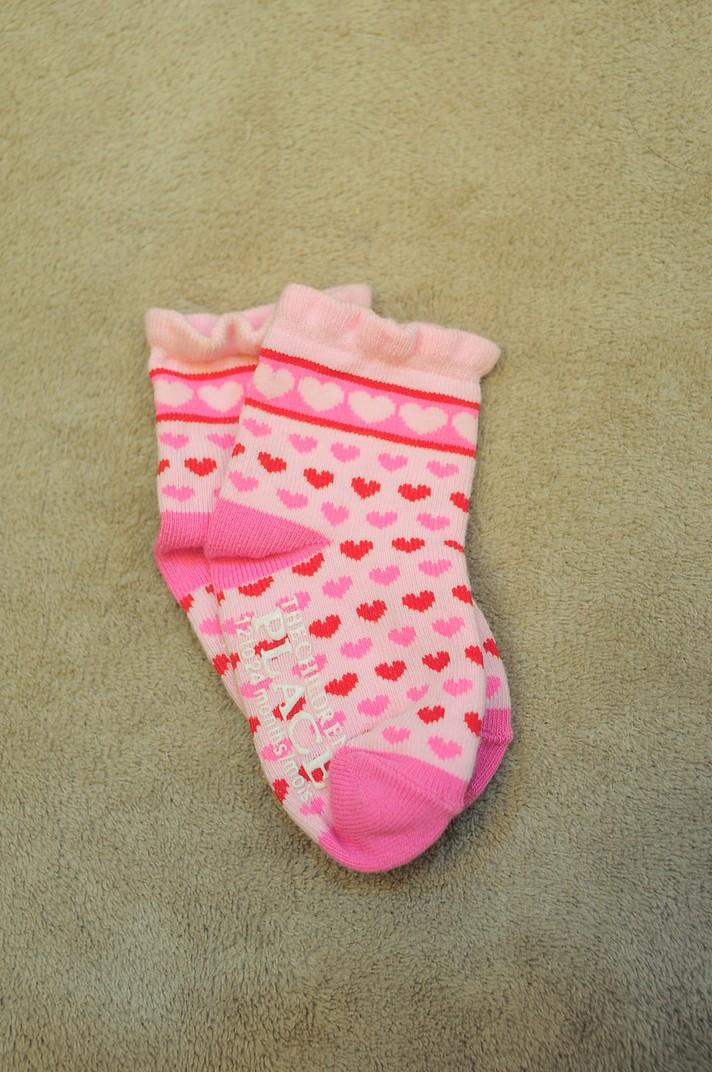 children place socks